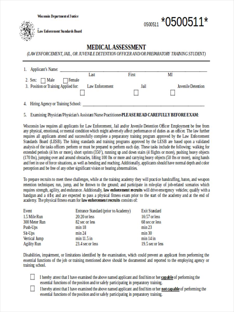medical training assessment form4