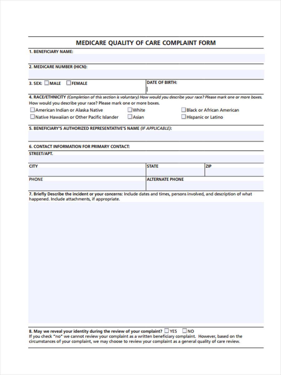 medicare patient complaint