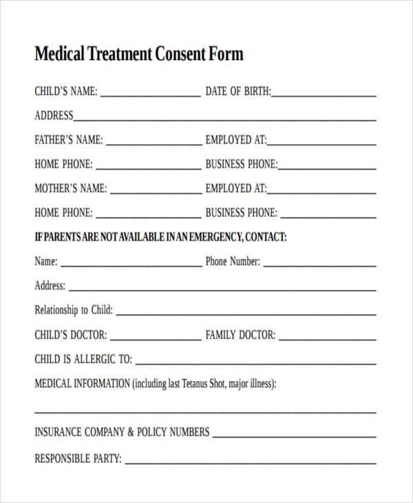 minor medical treatment