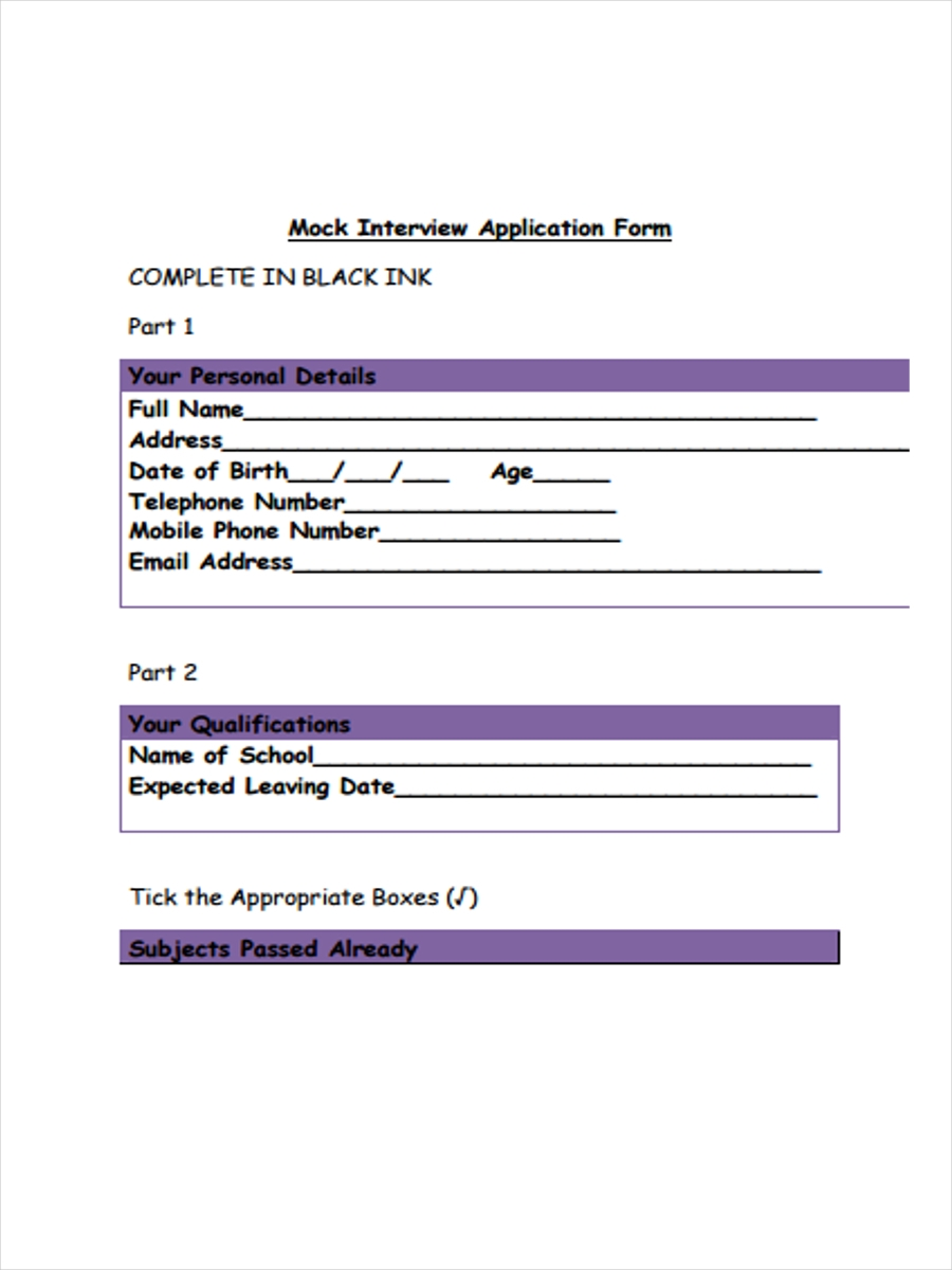 mock interview application