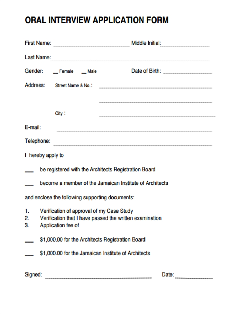 oral interview application