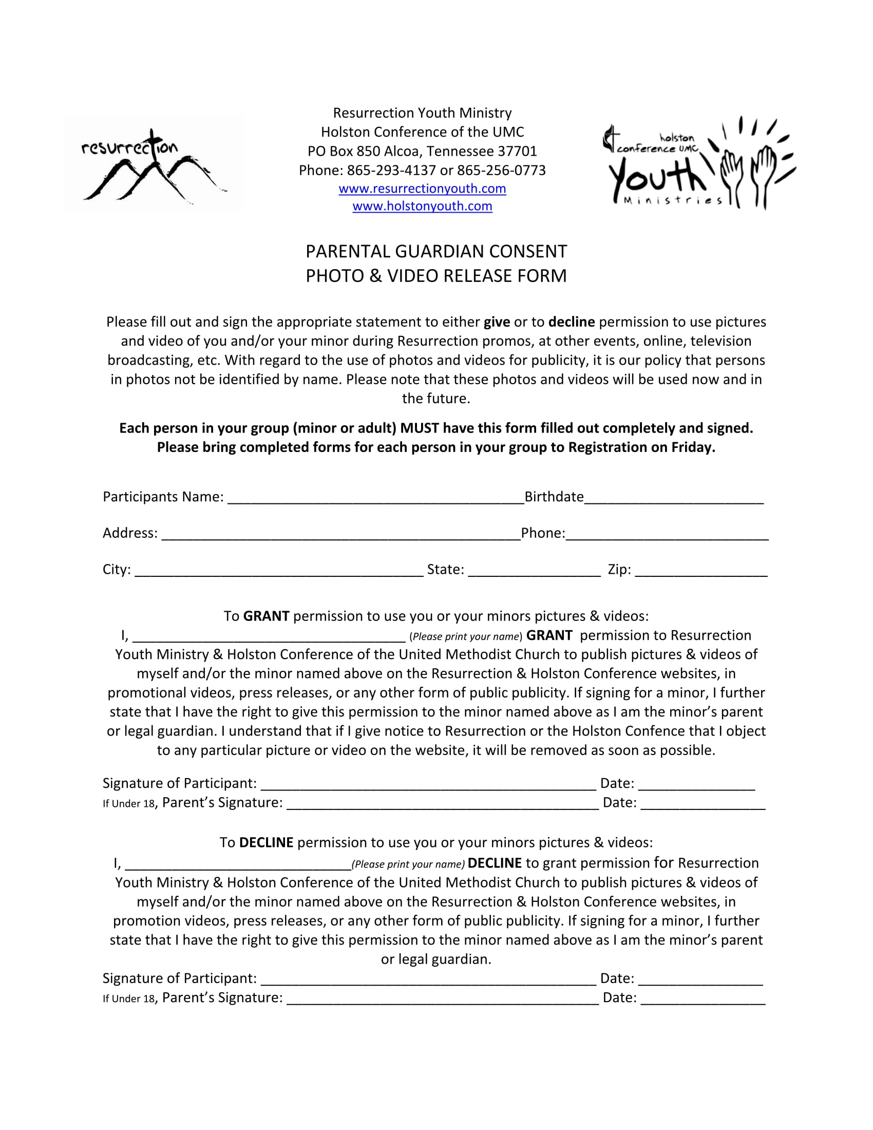 parent video consent form 1