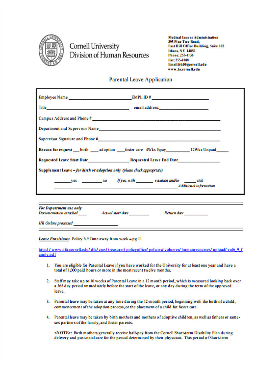 29 Leave Request Form in PDF – Leave Application Forms