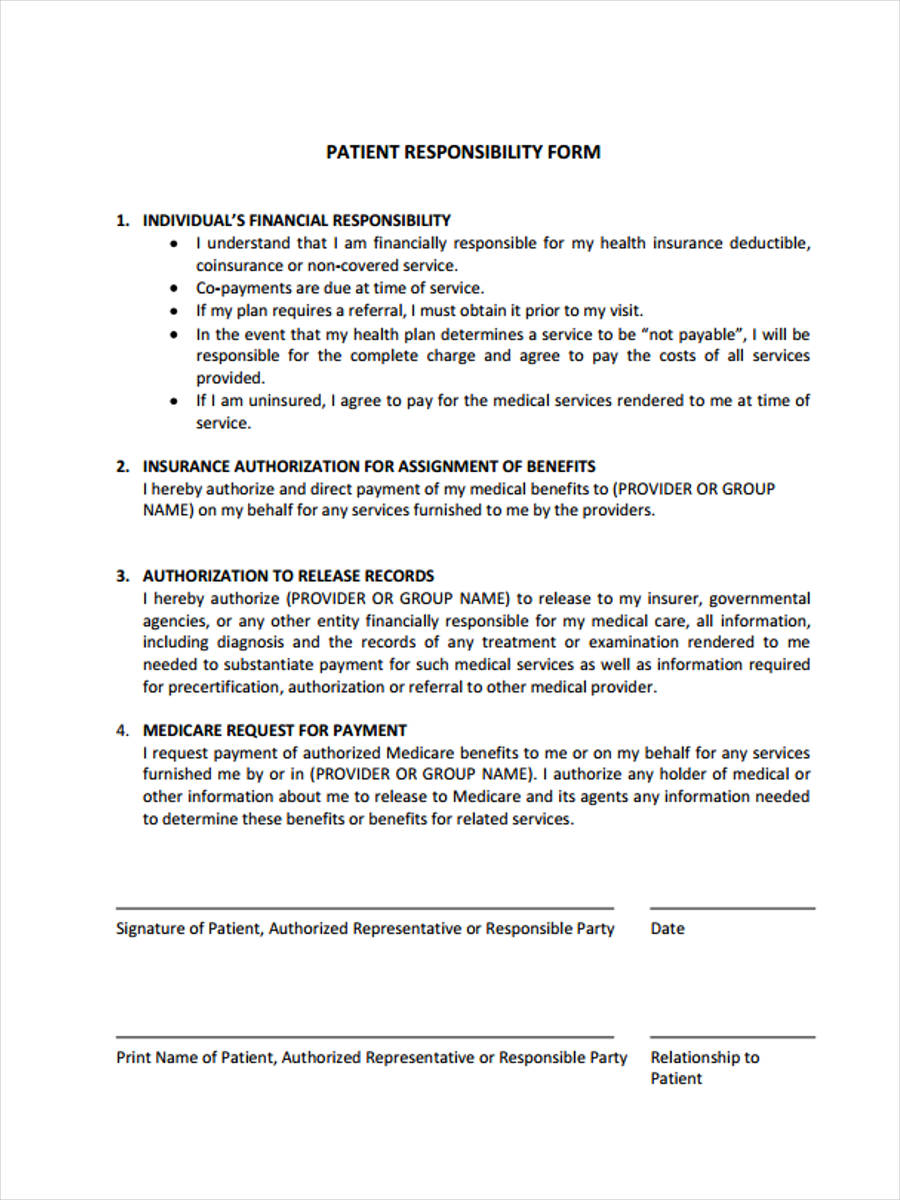 6+ Financial Responsibility Forms - Free Sample, Example Format ...