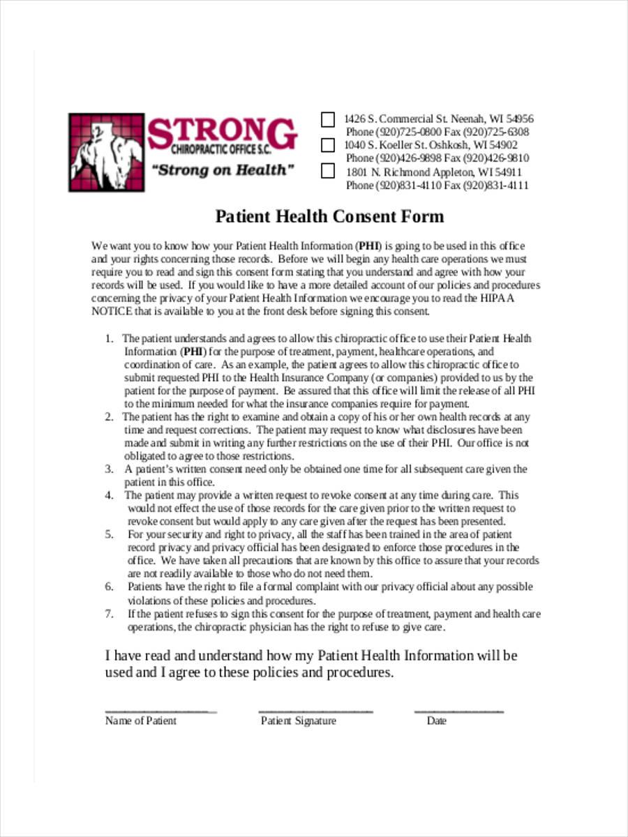 patient health consent