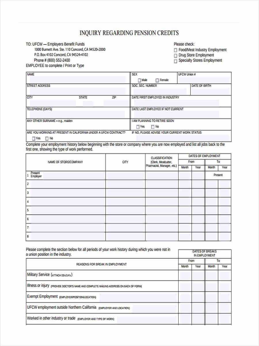 pension credit inquiry
