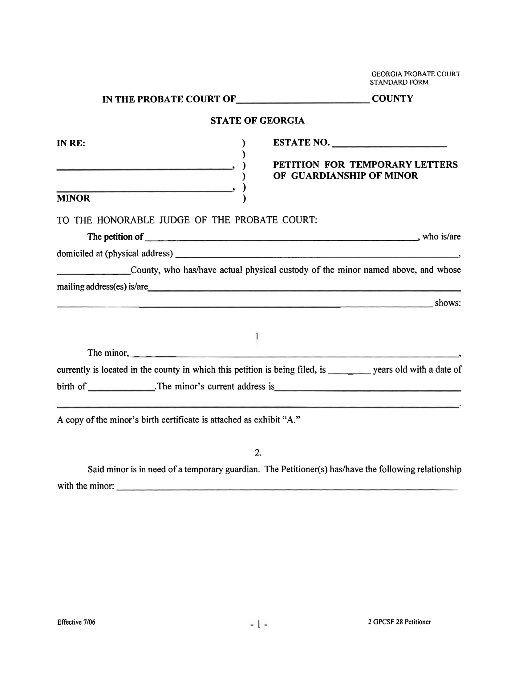 10 Guardianship Forms Guardianship Affidavit Guardianship – Temporary Guardianship Forms