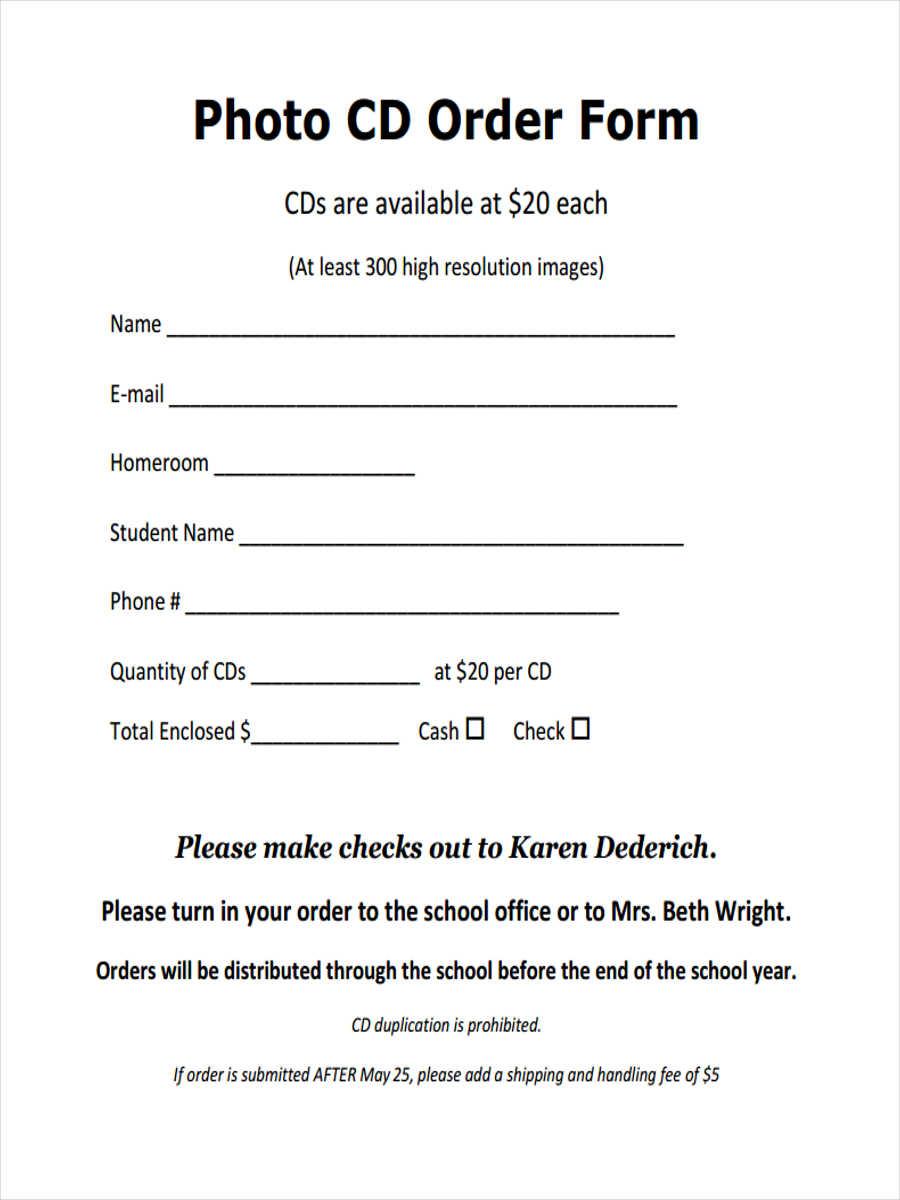 photo cd order form1