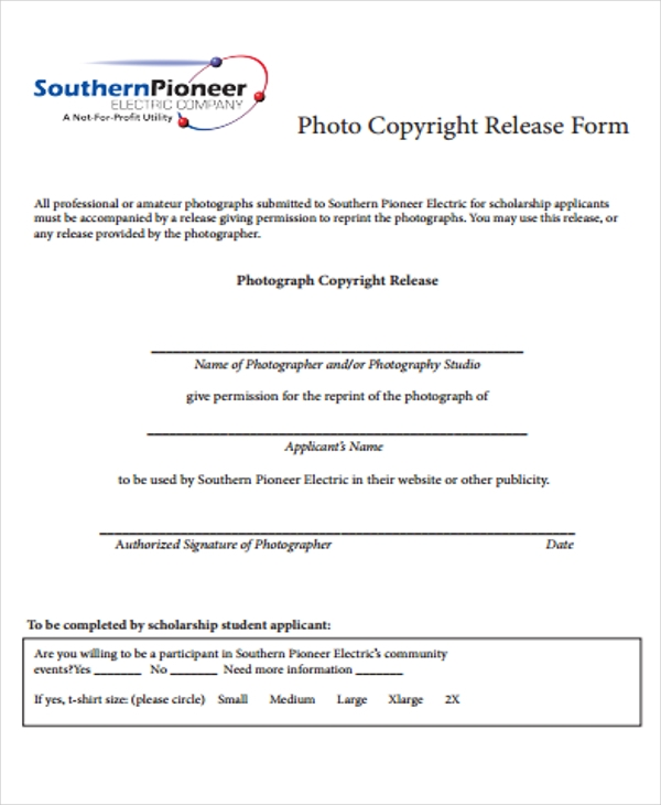 photo copyright release
