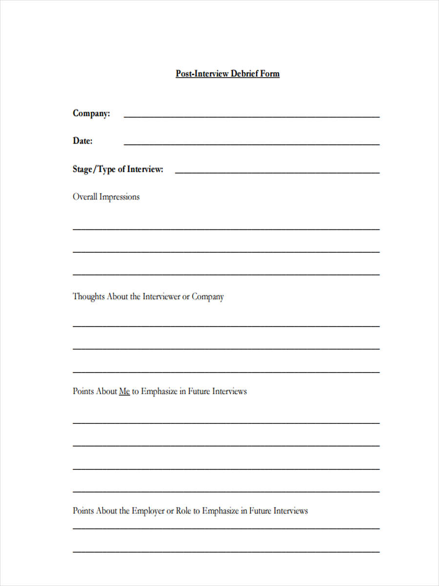 Debriefing Form Template Psychology Choice Image