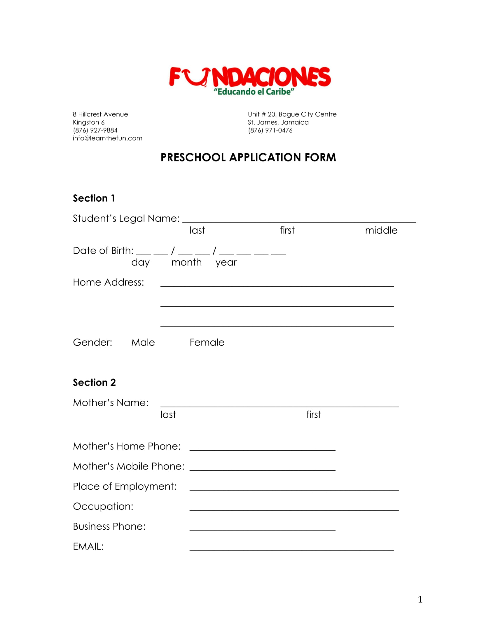 20 Application Form Samples for Job Events Businesses and – School Admission Form Sample