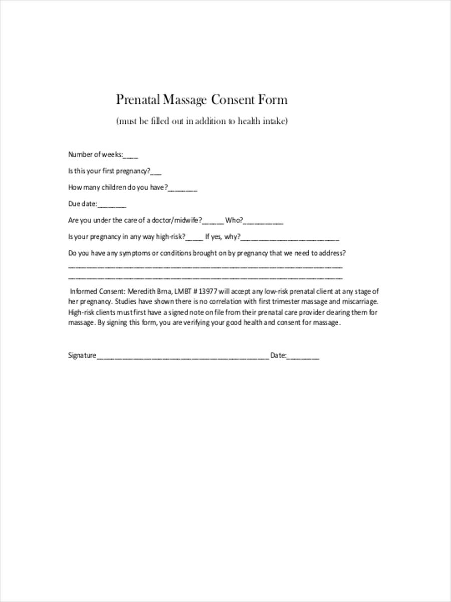 pregnancy massage consent pdf