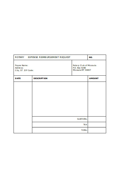 Free 20 Expense Reimbursement Forms In Pdf Ms Word Excel