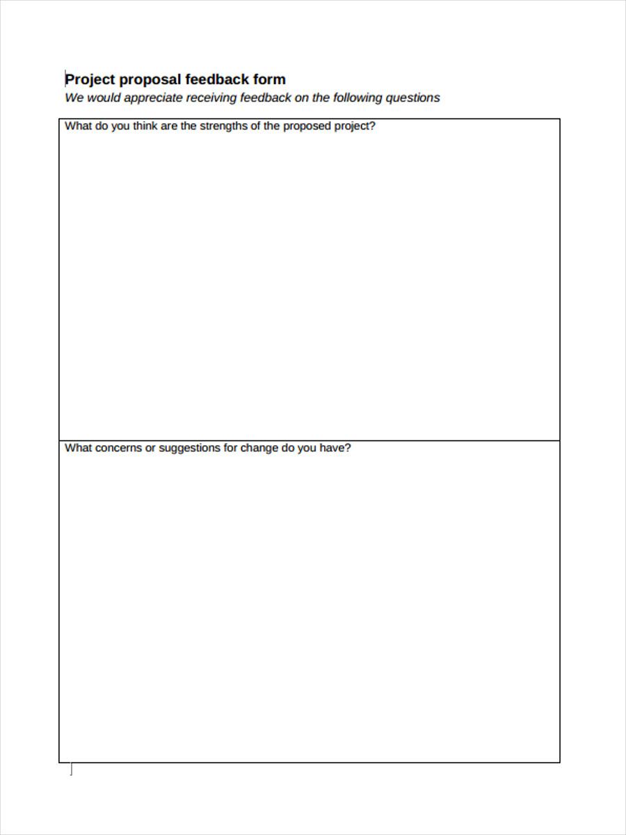 project proposal feedback