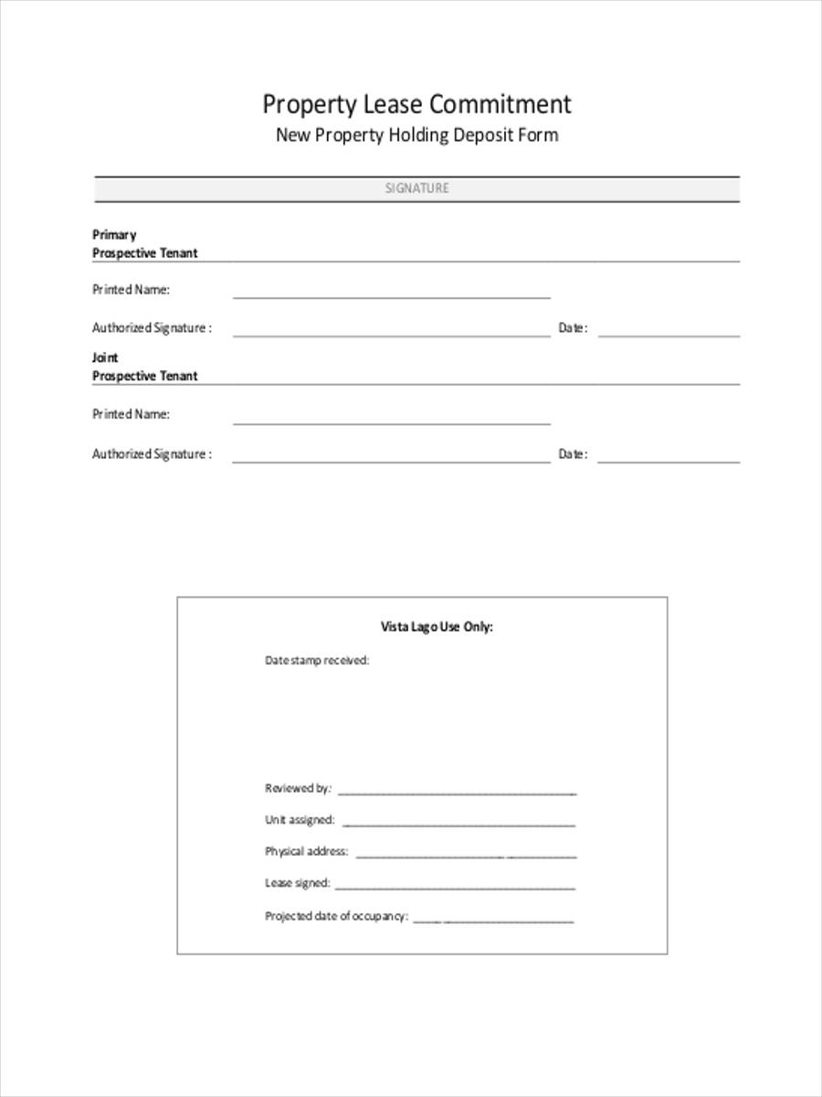 property lease commitment