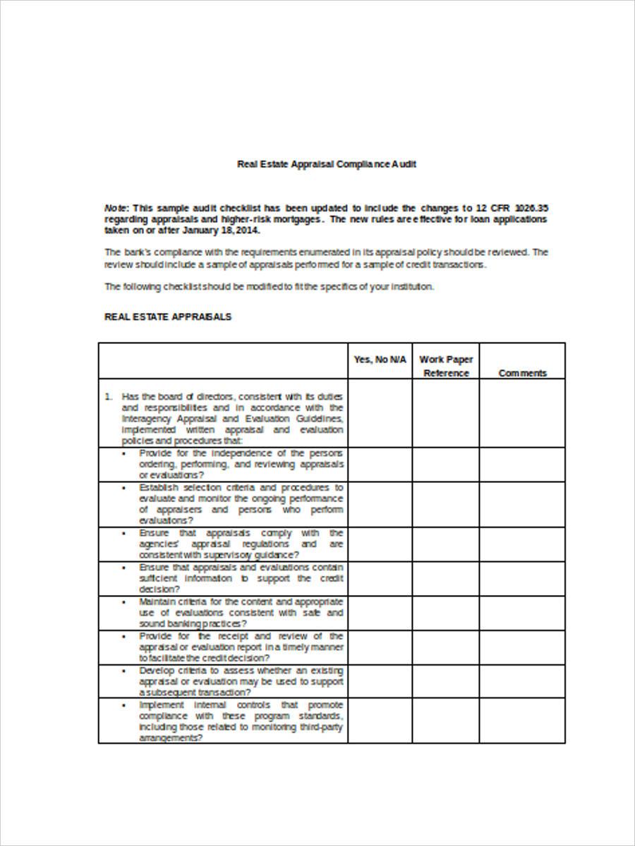 real estate appraisal evaluation