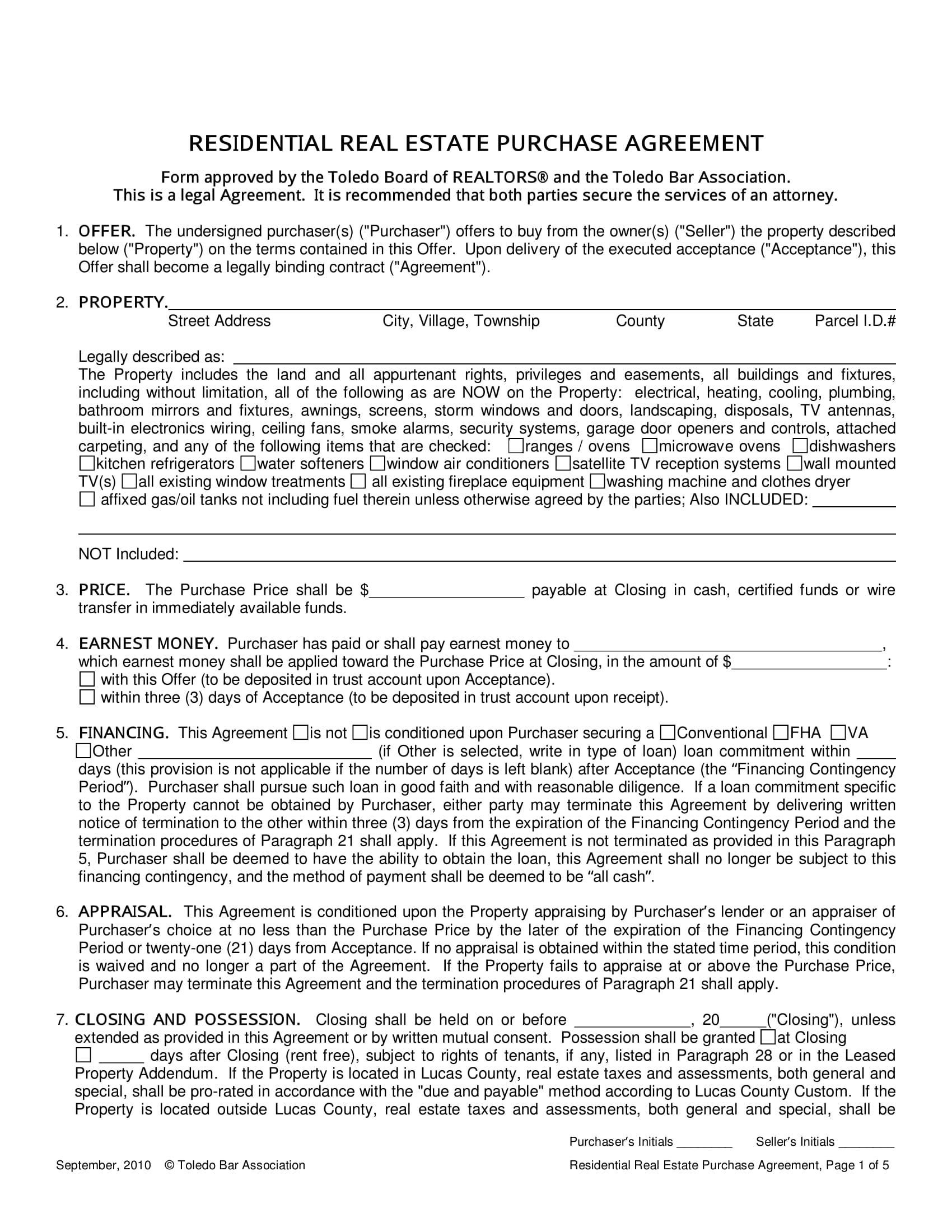 15+ Real Estate Contract and Agreement Forms