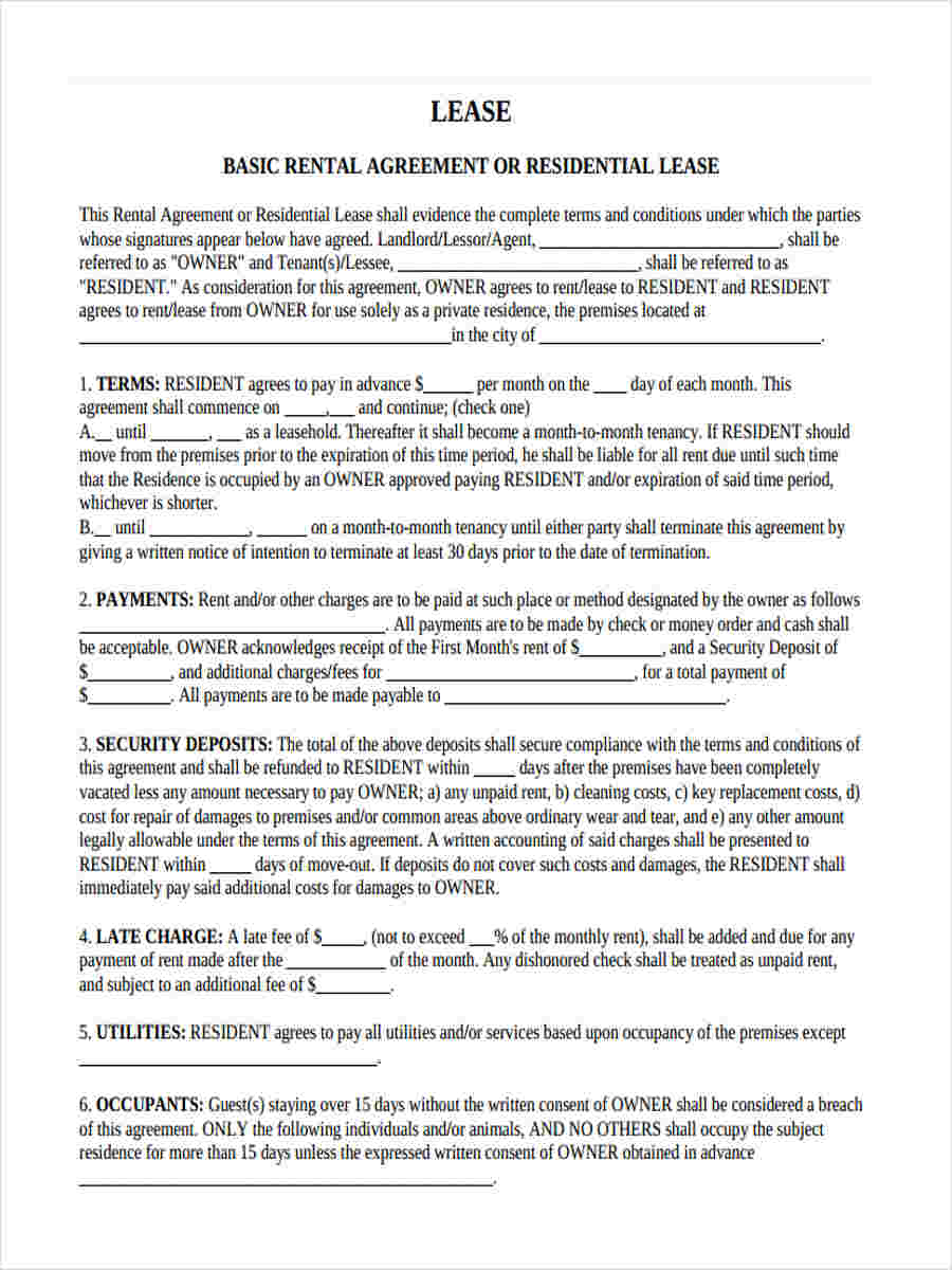 rental lease agreement1