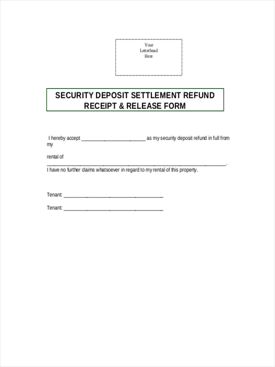 free 8  security deposit form in sample  example  format