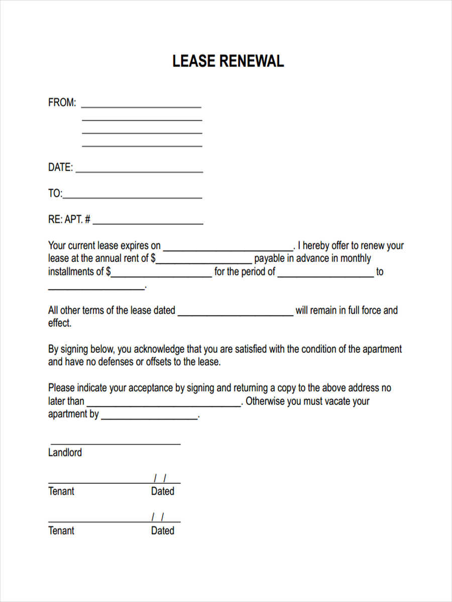 29 Free Lease Form – Rent Lease Form