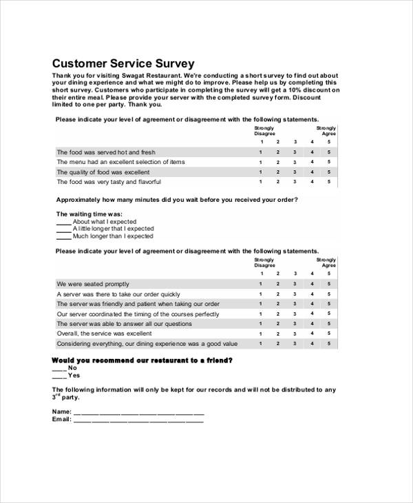 restaurant customer feedback
