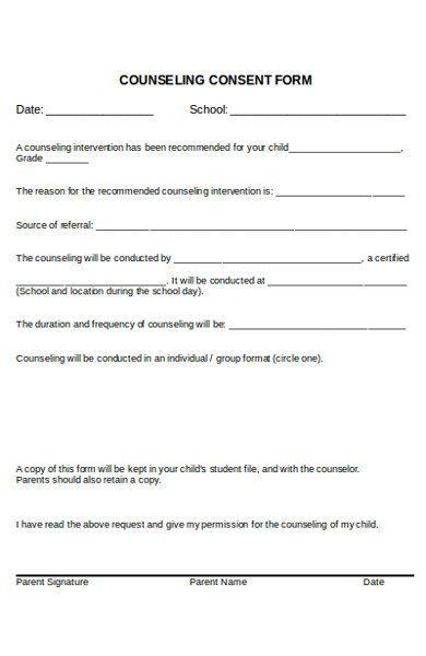 sample counseling consent form