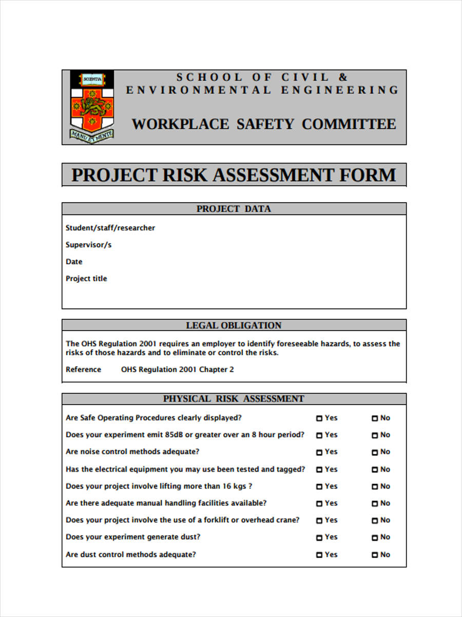 standard project risk