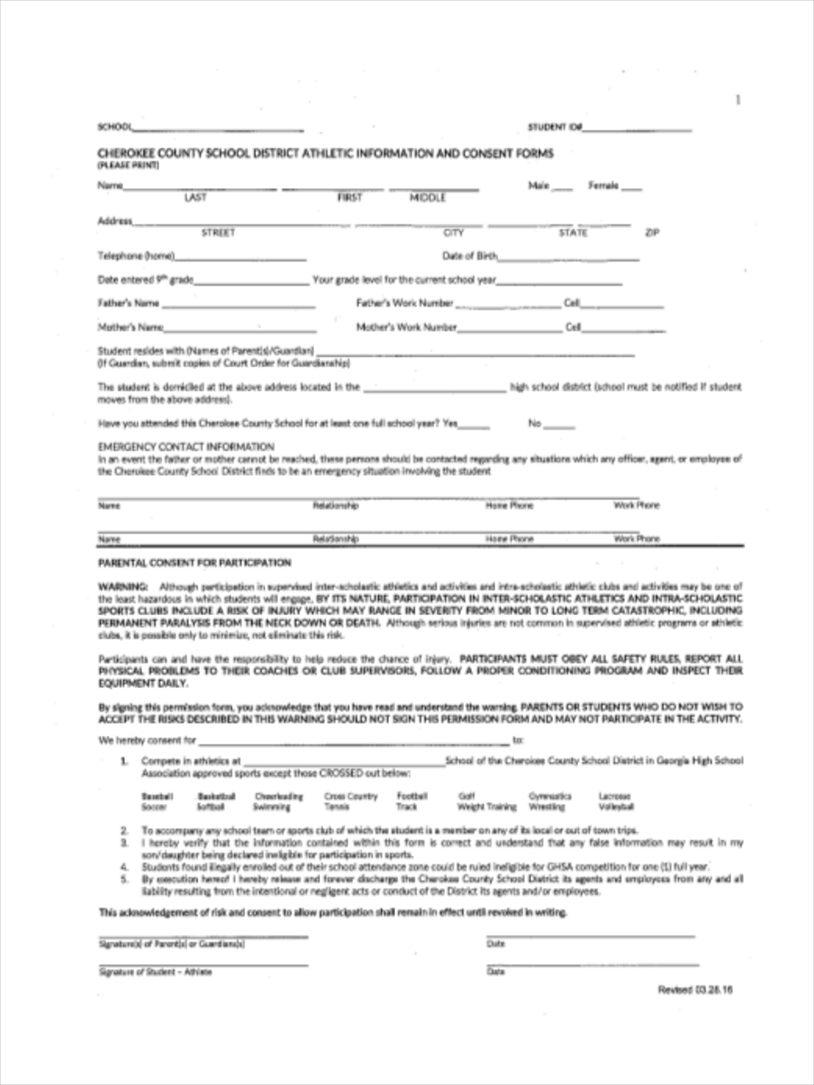 sports physical form ga  FREE 10+ Sports Physical Form in Sample, Example, Format