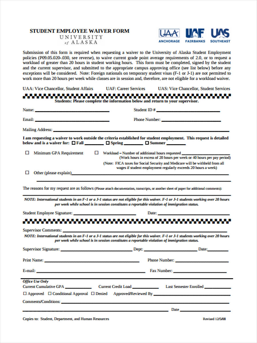 student employment approval form
