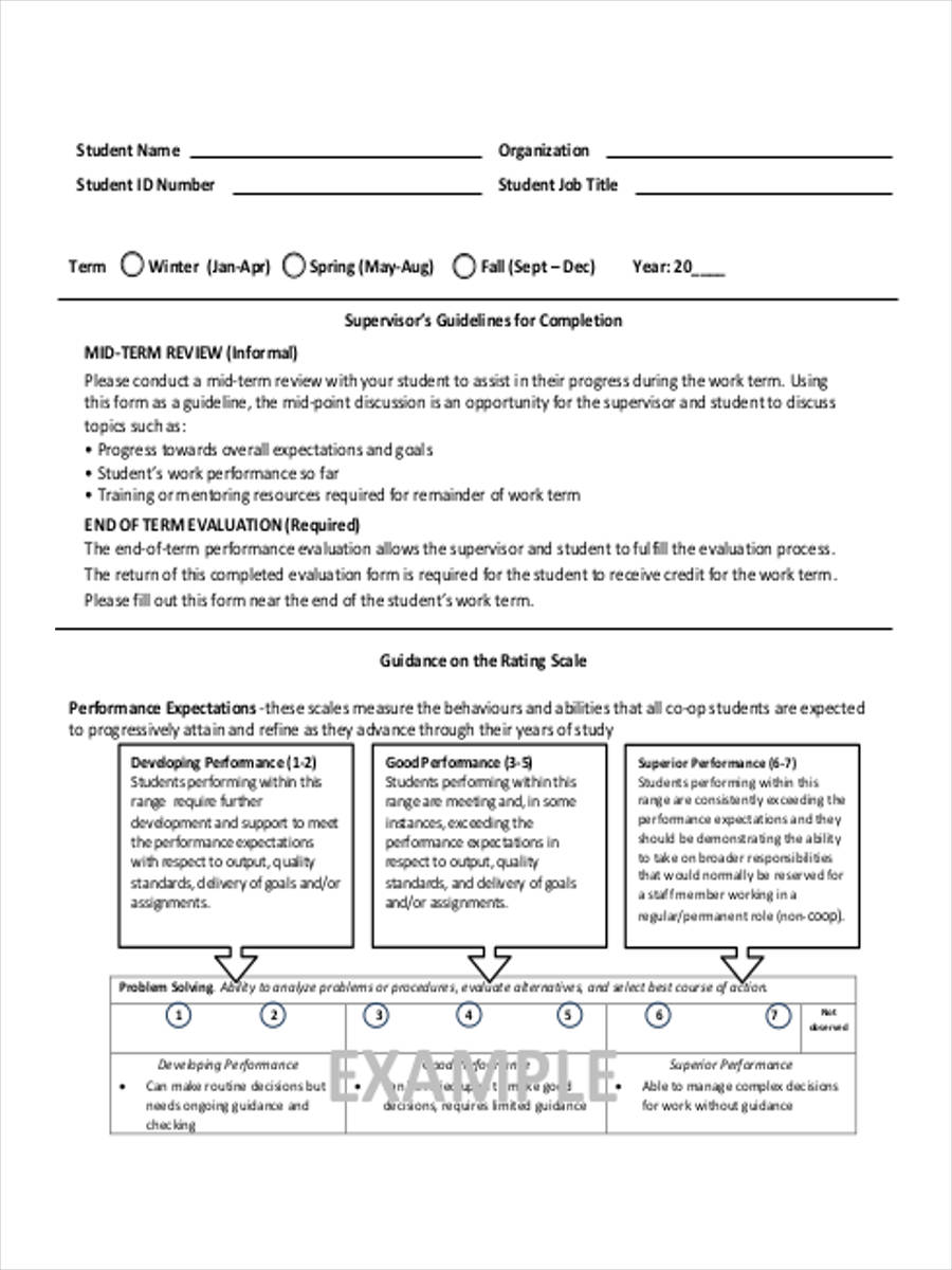19 team evaluation form samples