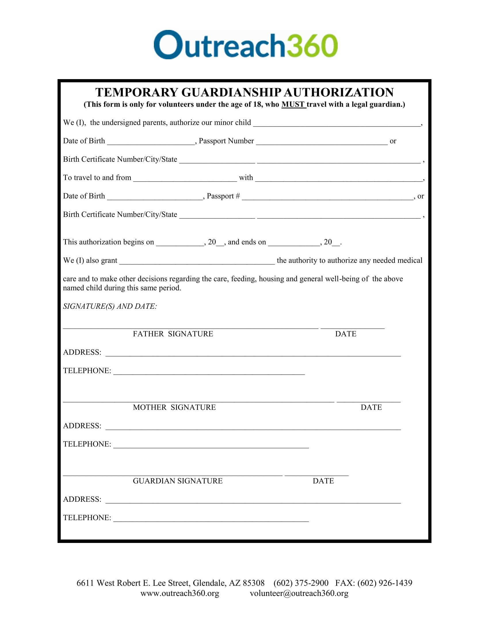 temporary guardianship authorization 11