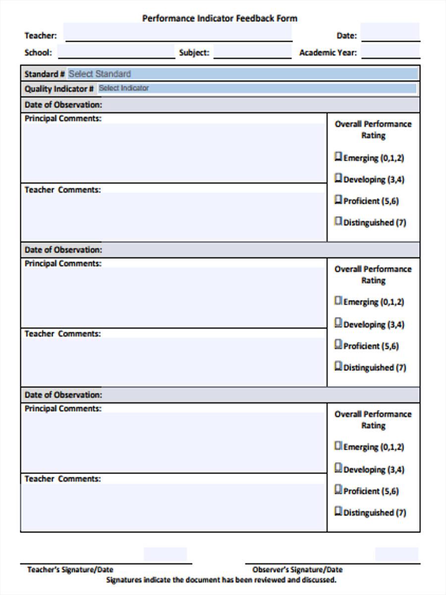 teacher performance feedback form1