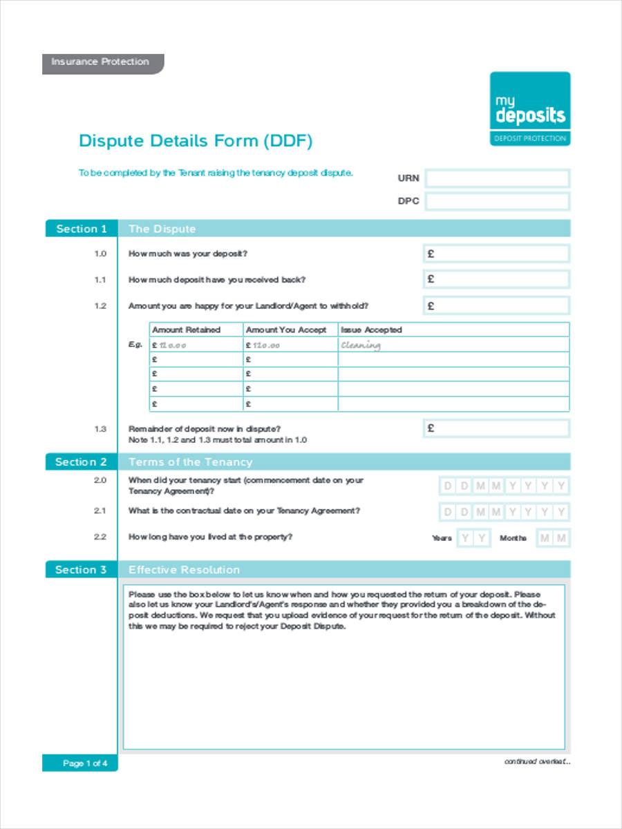 tenancy deposit dispute