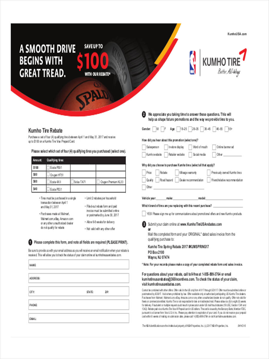tire sales form