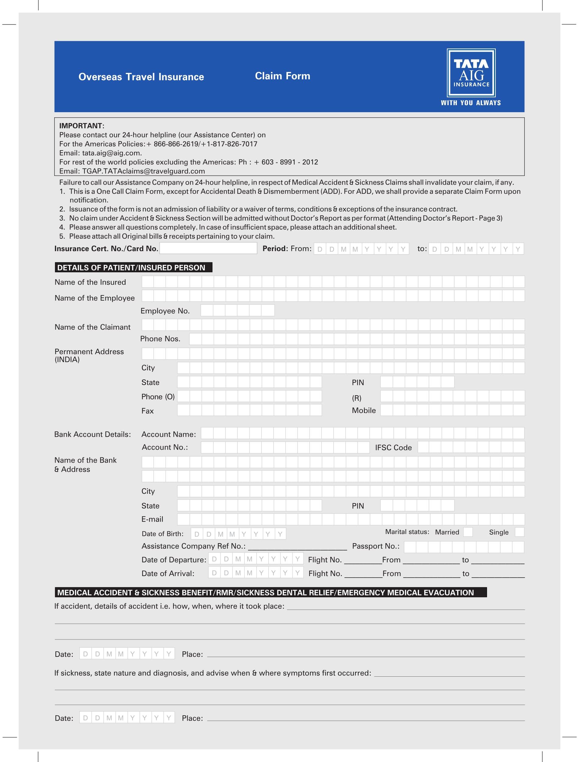 travel claim form 1