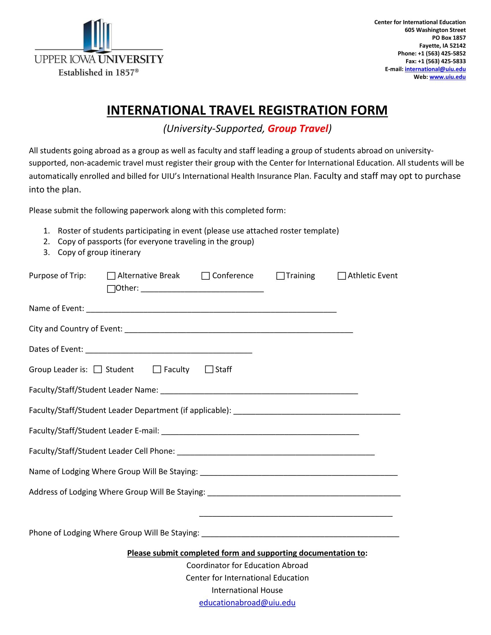 travel registration form 11