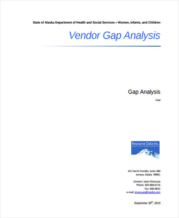 vendor gap analysis