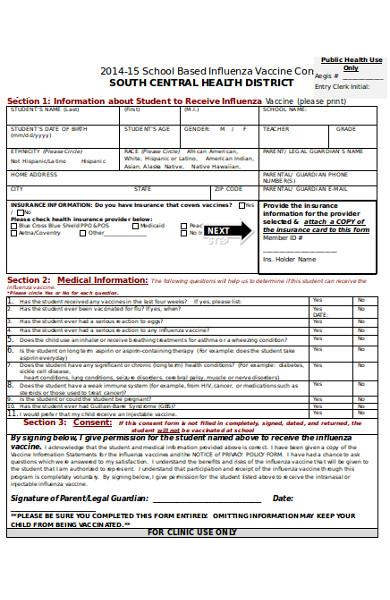 basic vaccine consent form