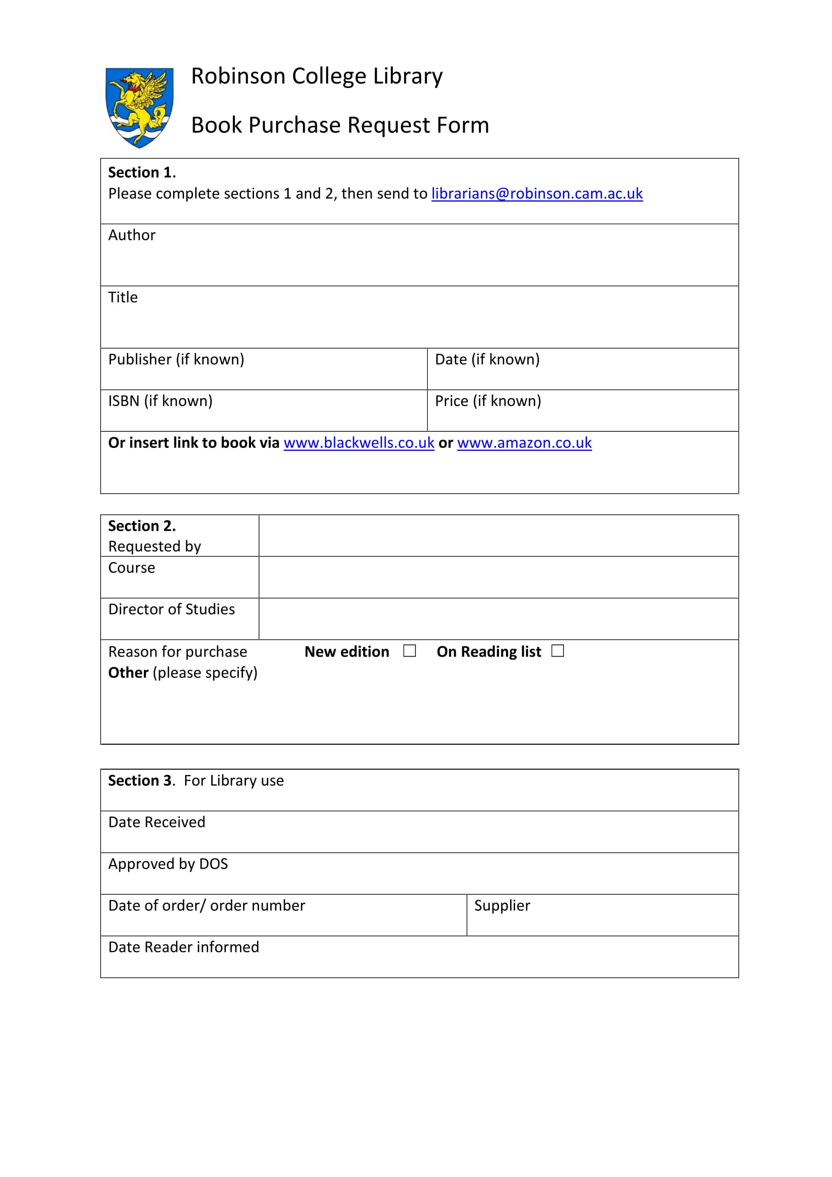 book purchase request form 1