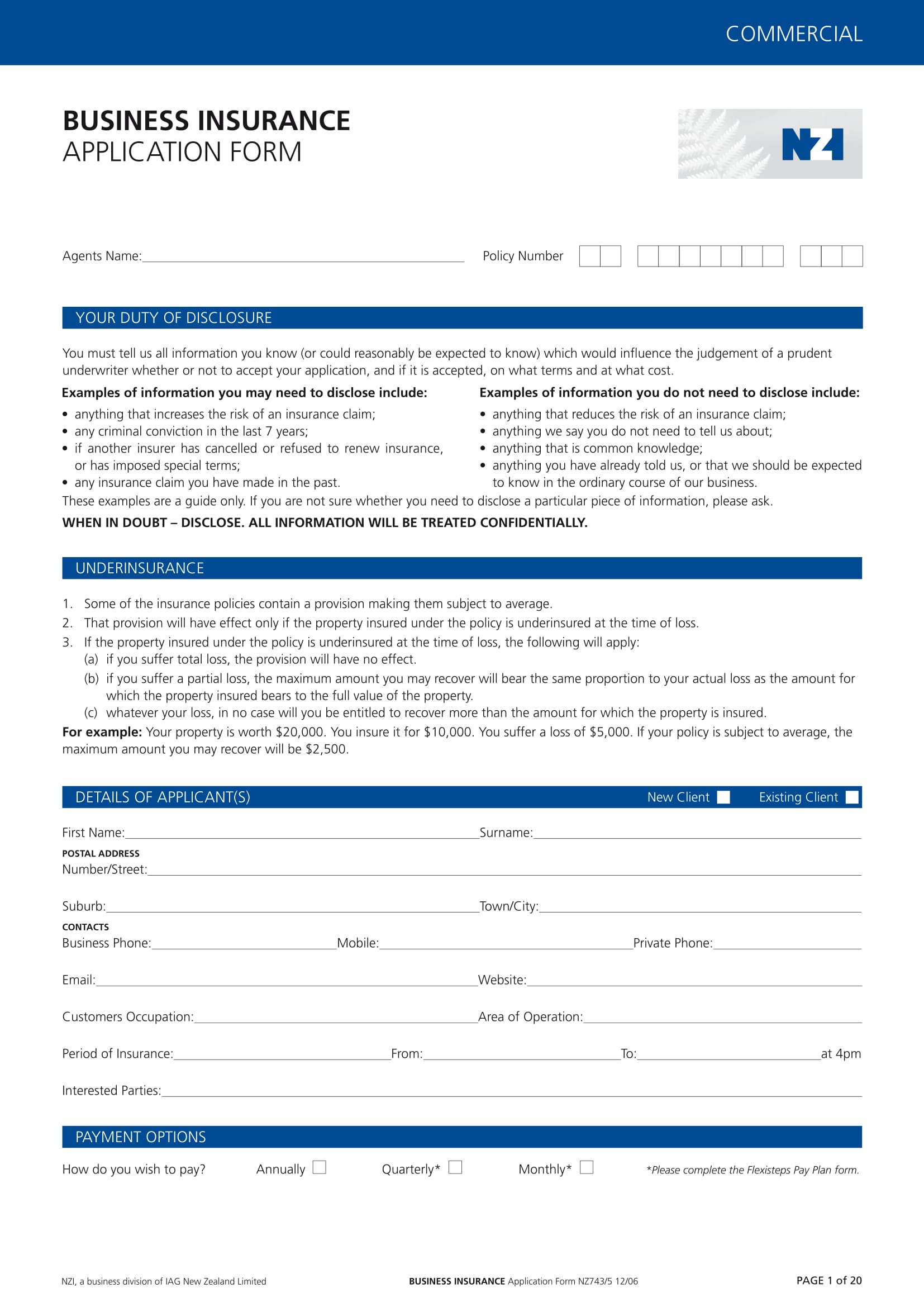 business insurance application form 01