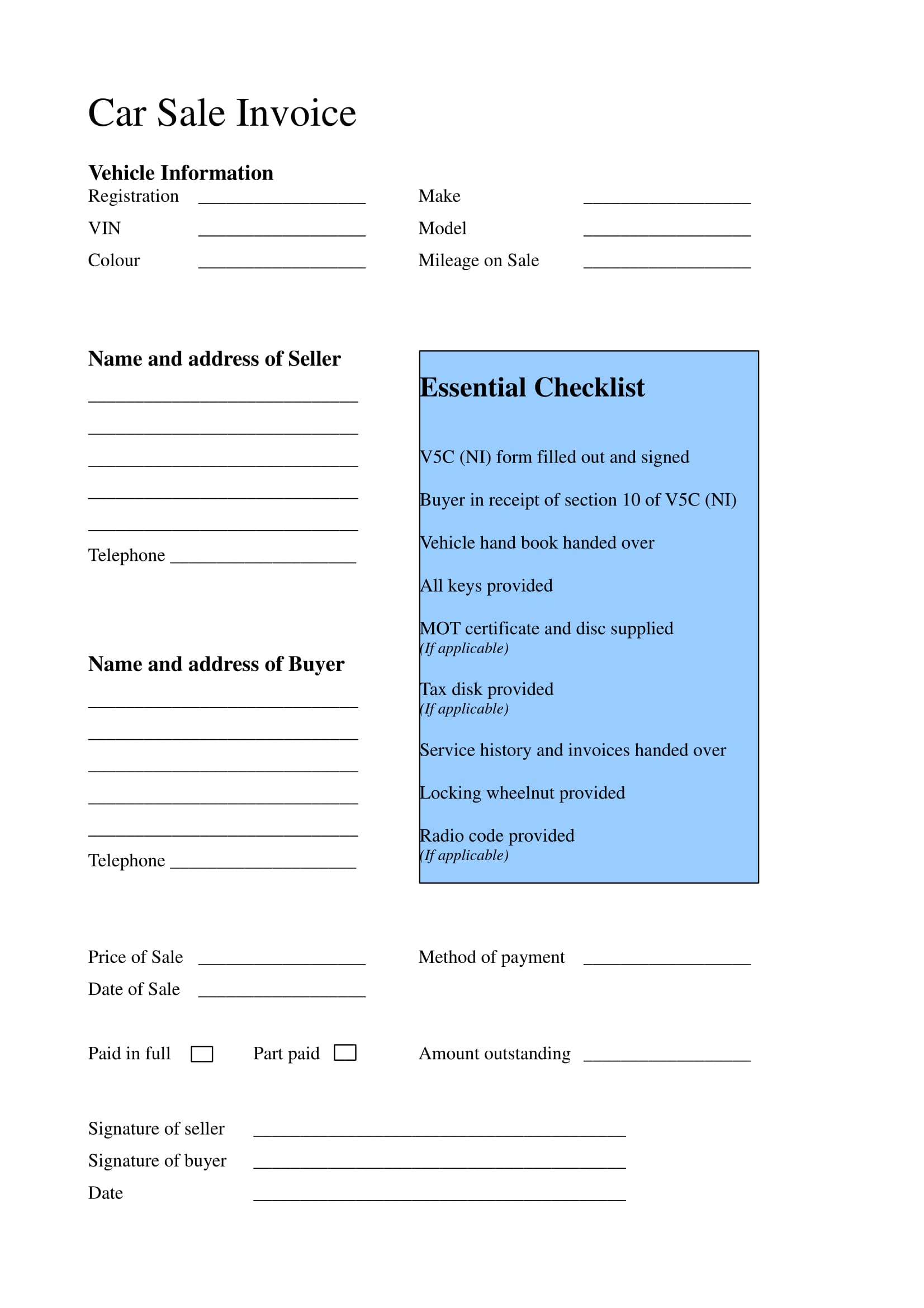free 15  business forms for car dealers in pdf