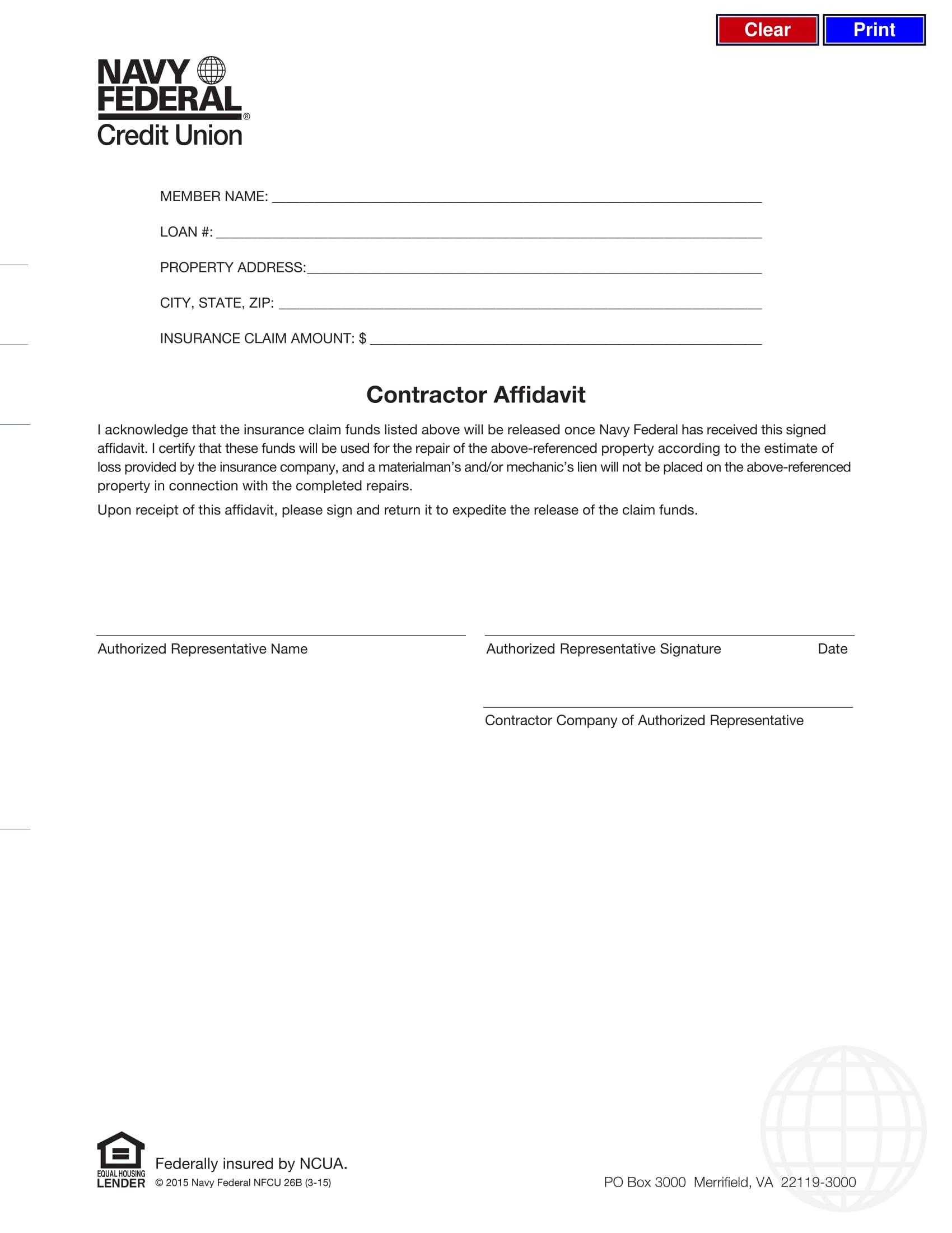 19 Free Affidavit Forms