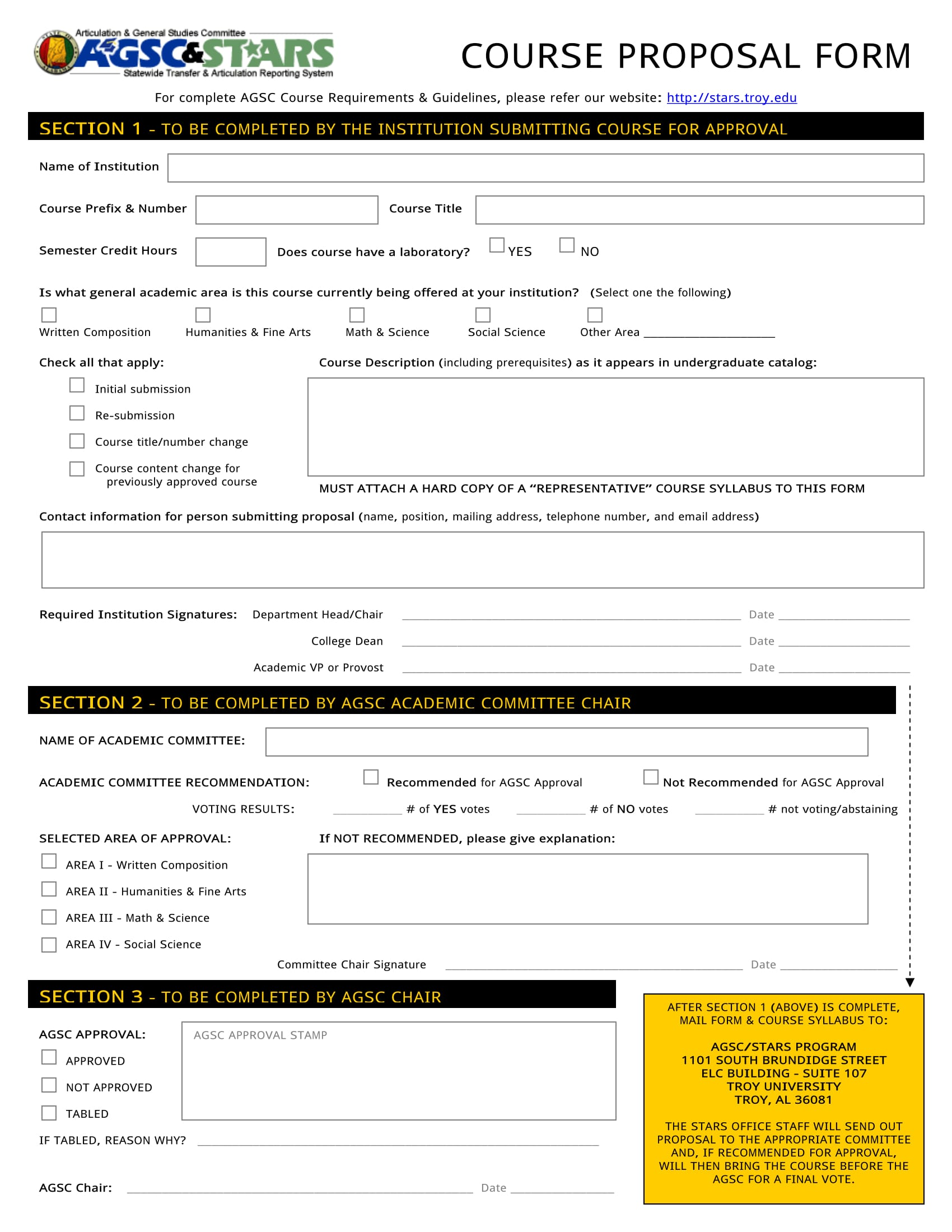course approval proposal form 1