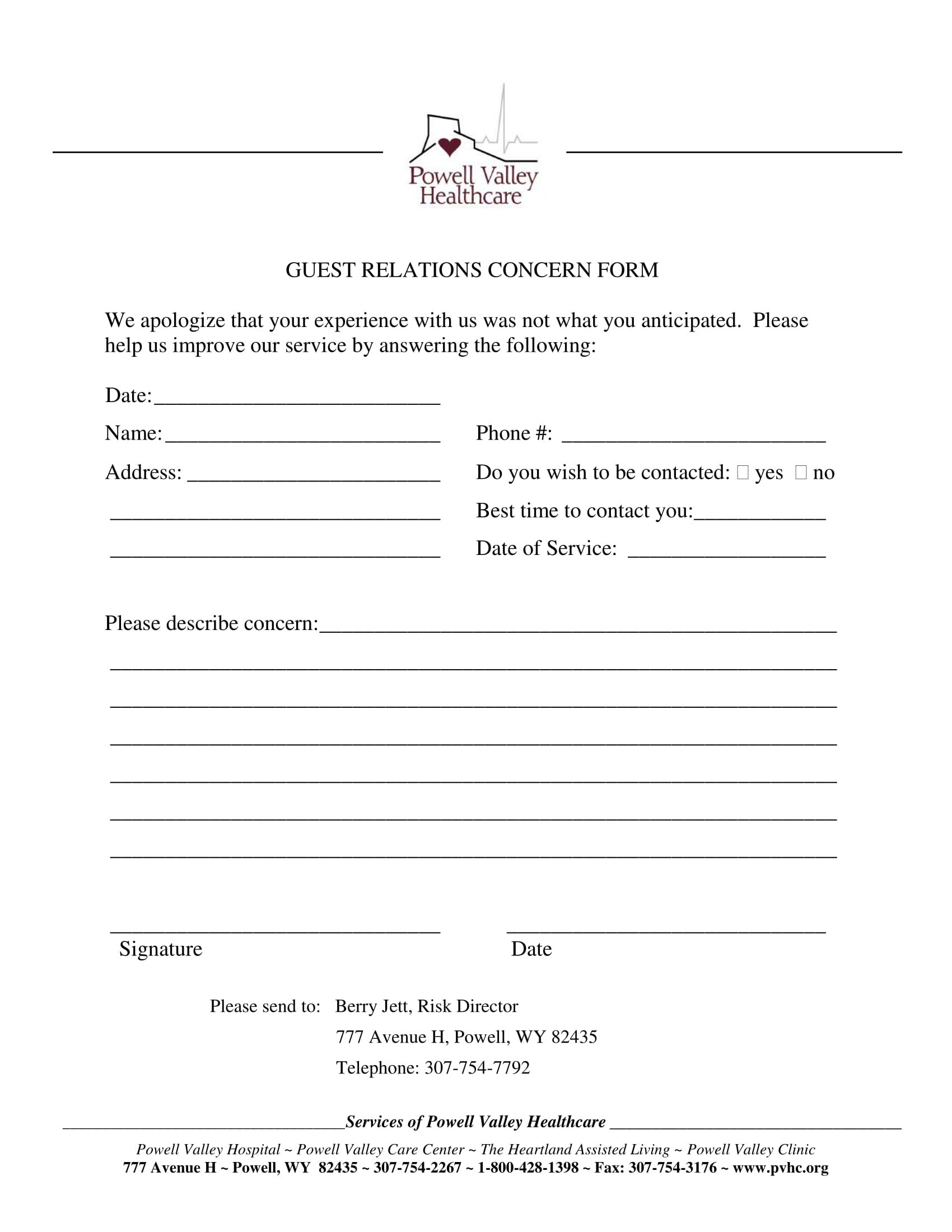 20 types of complaint forms for customers service providers hotel guests complaint form sample guest concern complaint form 1 altavistaventures Gallery
