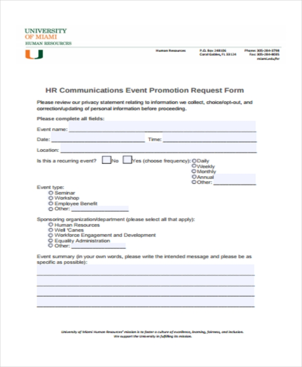 HR-Promotion Job Application Form Download Doc on free generic, big lots, sonic printable, blank generic, part time,