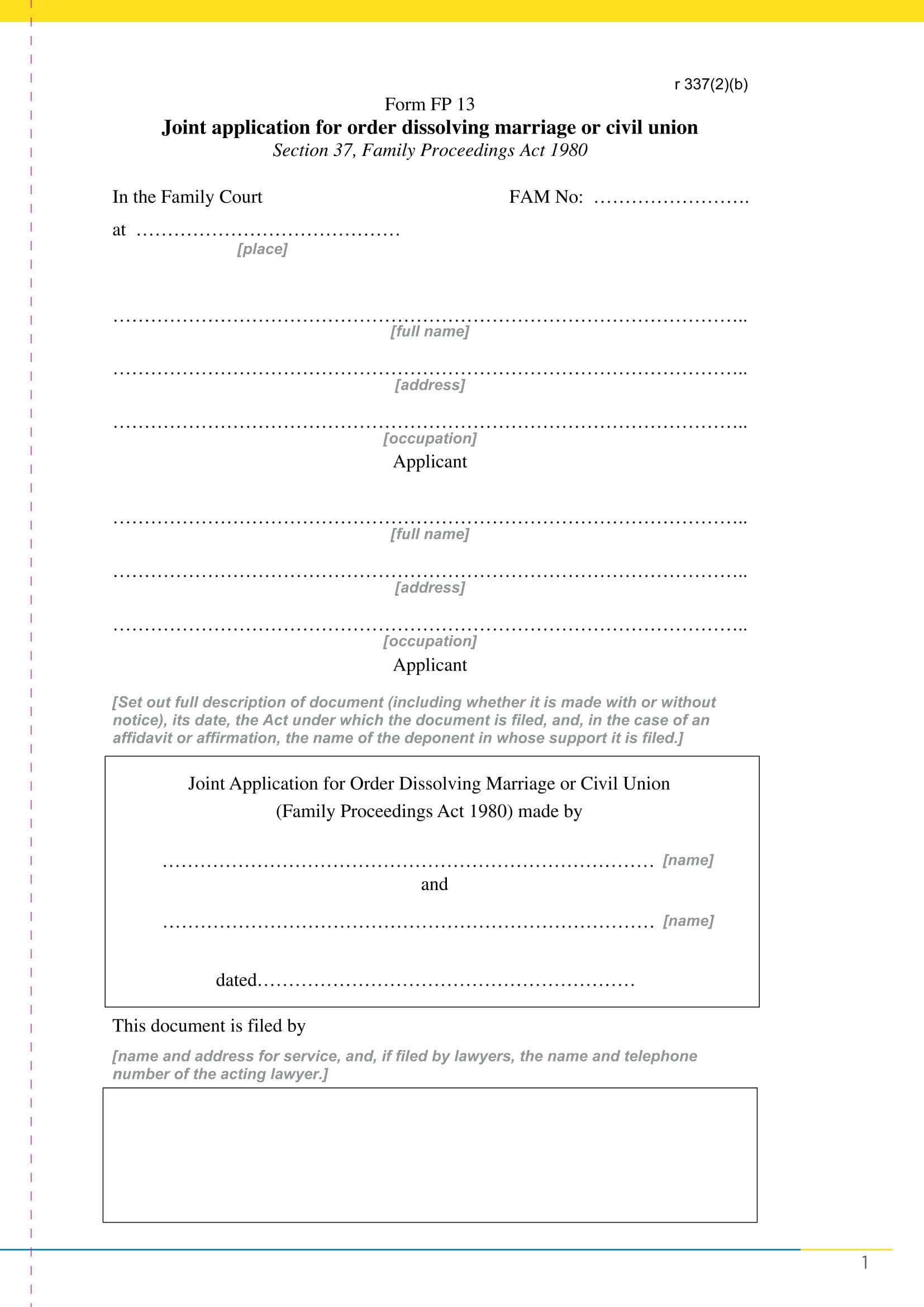 joint marriage dissolution application form 11