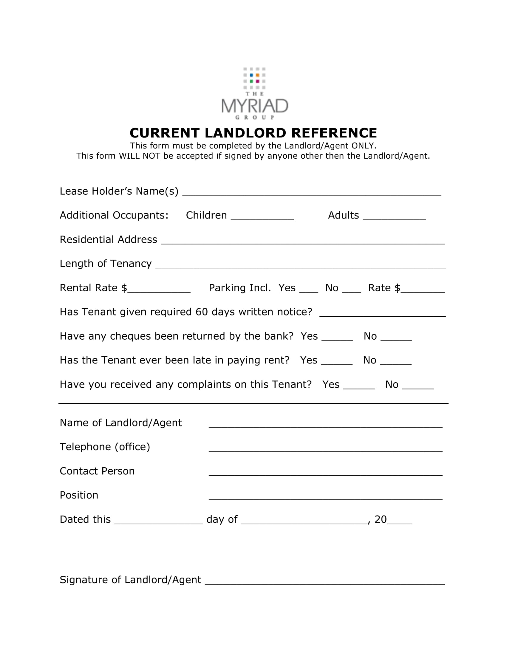 landlord reference request form 1