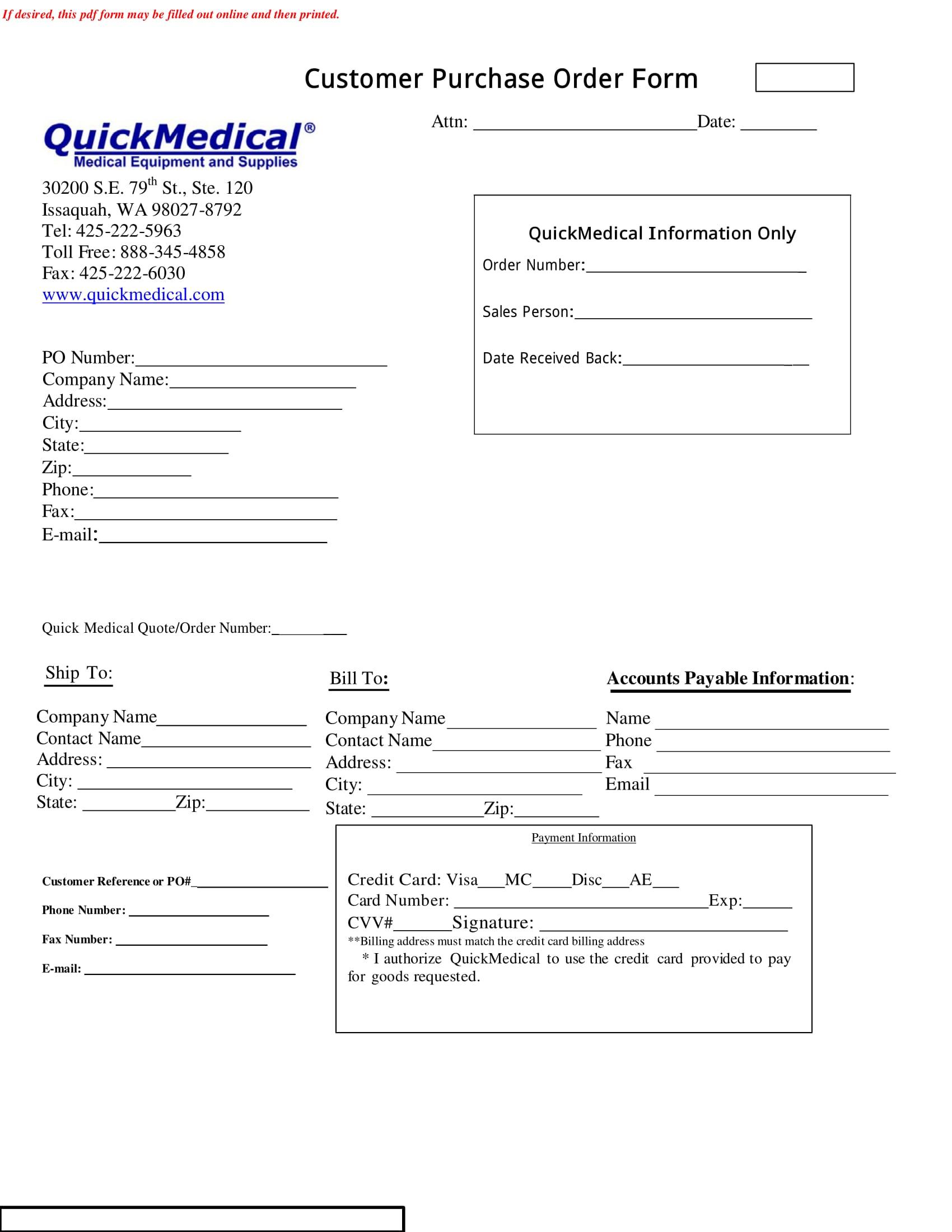 medical purchase order form 1