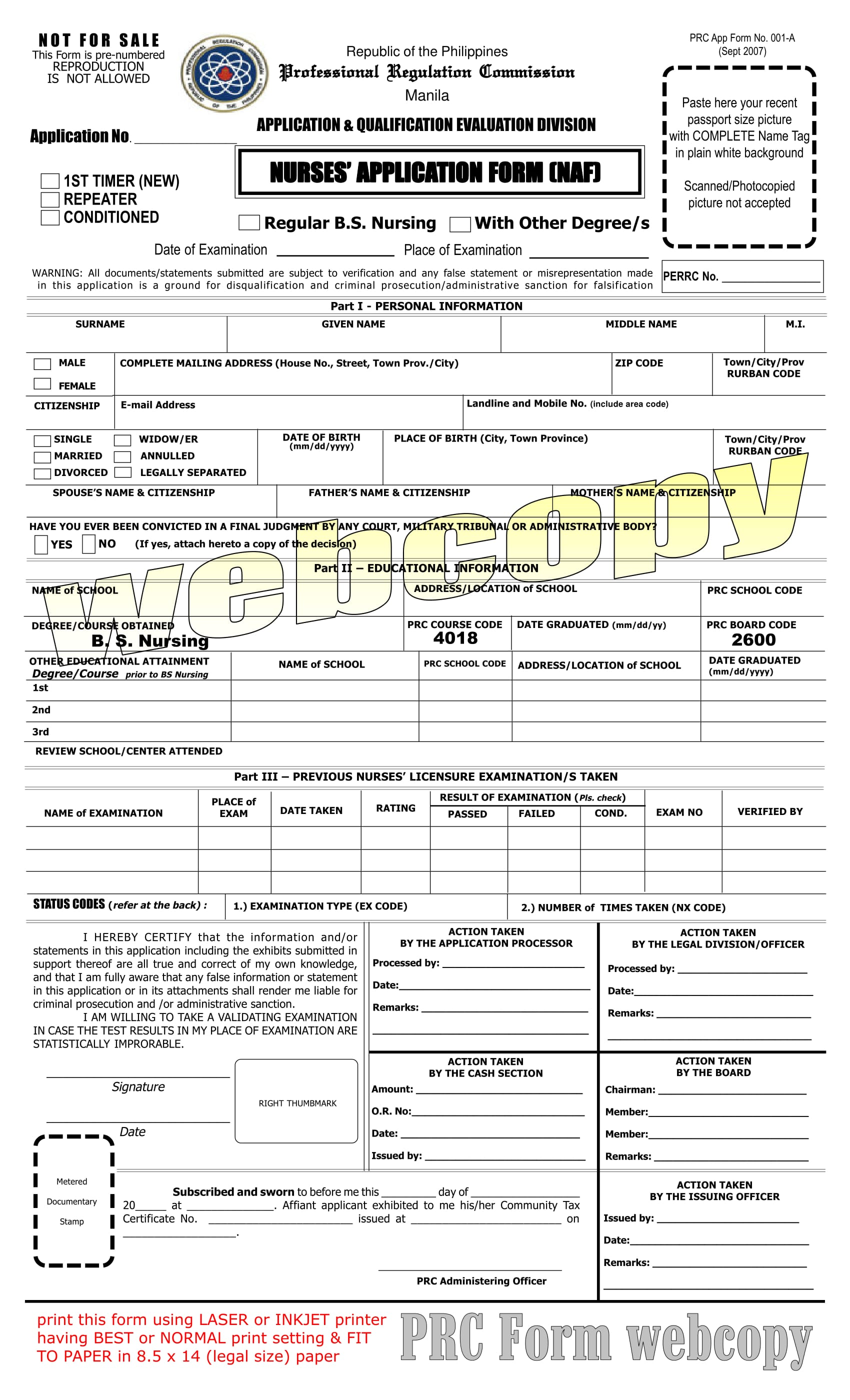 free 10  nurse application forms in pdf