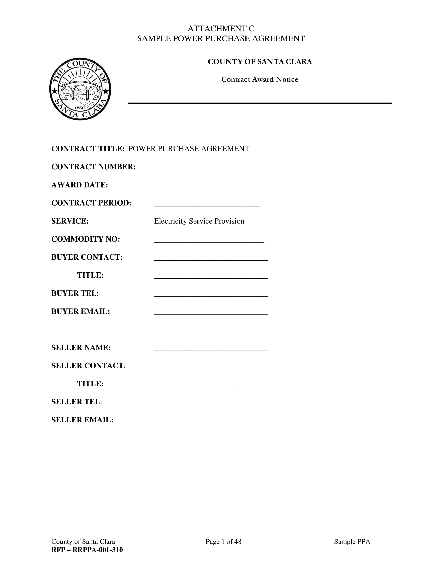 power purchase agreement form 01